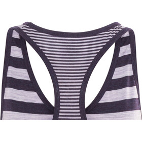 Icebreaker Sprite Tank Women silk heather/burgundy heather/stripe